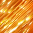 Glittering stars blurred yellow and red background — Stock Photo