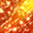 Stock Photo: Glittering stars blurred yellow and red background