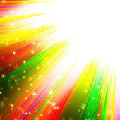 Colorful sun's rays with stars — Stock Photo