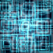Shining blue squares on a dark background — Stock Photo