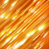 Glittering stars blurred yellow and red background — Stock fotografie