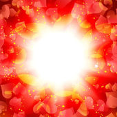 Abstract sun with hearts — Stock Photo
