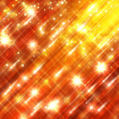 Glittering stars blurred yellow and red background — Stok fotoğraf