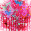 Grunge love pattern background - Stock Photo