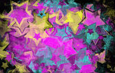 Estrelas grunge na parede — Foto Stock