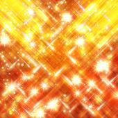 Glinsterende sterren gele en rode achtergrond wazig — Stockfoto