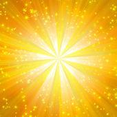 Solar illumination in the form of stars — Stock Photo