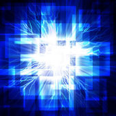 Blå fyrkanter med lightning. — Stockfoto