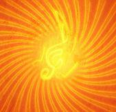 гранж, сжигание музыкальные символы — Стоковое фото