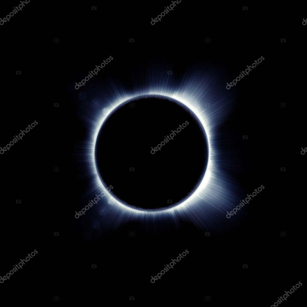 Eclipse of the sun on the black, used for the background  Stock Photo #9686380