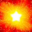 Solar illumination in the form of stars — Stock Photo