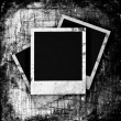 Stock Photo: Blank photo frame on grunge