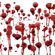 Splashes of blood — Stock Photo