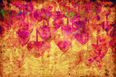 Heart on Grange background — Stock Photo