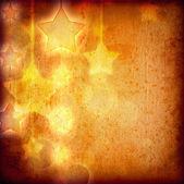 グランジ紙の上の星 — ストック写真