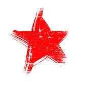 Red grunge star — Stock Photo
