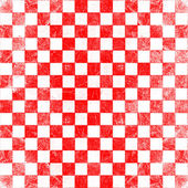 Grunge red checkered — Foto Stock