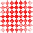 Grunge red checkered — Stock Photo