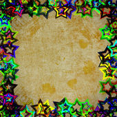 рама гранж звёзд — Стоковое фото