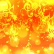 Background with music notes and stars — Stock Photo #9844464