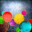 Grunge colorful circles — Foto de Stock