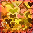 Grunge love pattern background — Stock Photo
