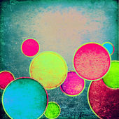 Grunge colorful circles — Stock Photo