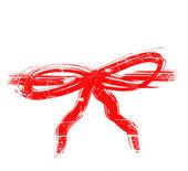 Grunge roten bogen — Stockfoto