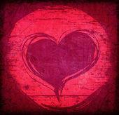 Coração vermelho — Foto Stock