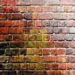 Stock Photo: Squares on grunge wall