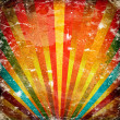 Multicolor Sunbeams grunge background - Stock Photo