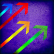Grunge colorful arrows - Stock Photo