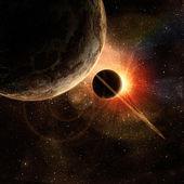 Planeta con anillos — Foto de Stock
