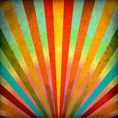 Fondo de grunge de los rayos de sol multicolor — Foto de Stock