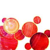 Círculos de grunge vermelho — Foto Stock