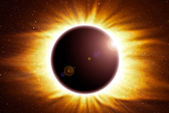 Eclipse of the sun — Stock Photo