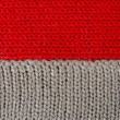 Knitting wool gray red — Stock Photo