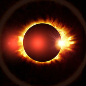 Eclipse of the sun on the black — Stock Photo