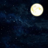 Moon on a dark sky — Stock Photo
