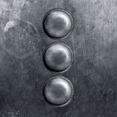 Round metal plate — Stock Photo