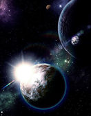 Yıldızlı gökyüzü — Stok fotoğraf