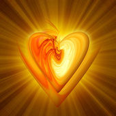 Abstract amber heart — Stock Photo