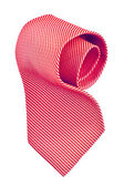 Roll of red tie — Stock Photo