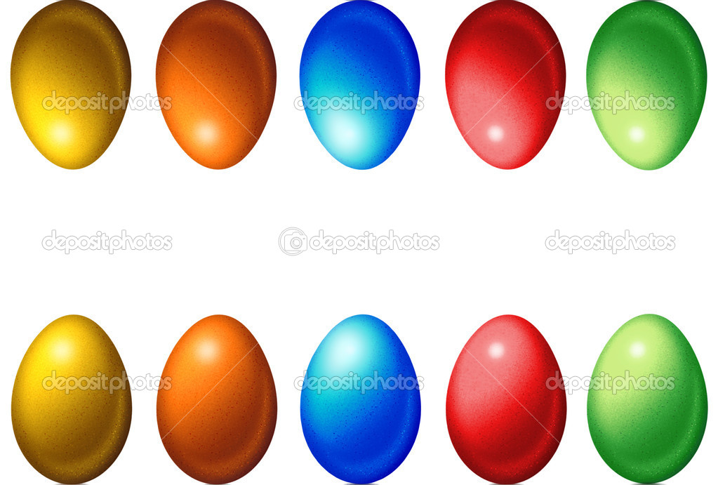 Colorful Easter eggs on a white background — Stock Photo #9902573