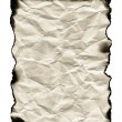 Old sheet of paper with burnt edges — Stock Photo #10096873
