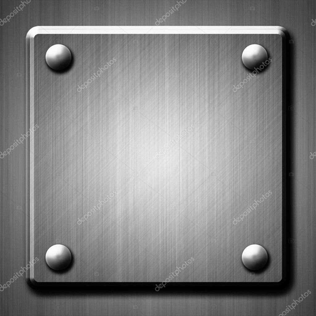 Brushed metal surface effect background with four rivets — Stock Photo #10183828