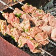 Meat grilling over charcoal — Stock Photo #10540522
