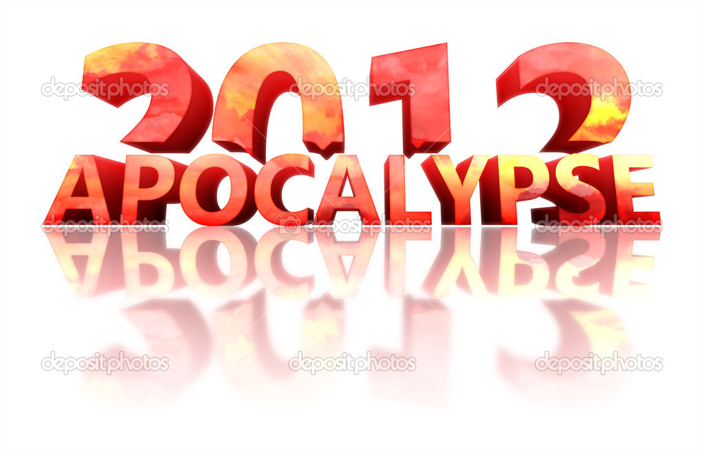 Concept of 2012 year with reflection on white background — Stock Photo #8011391