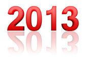 2013 año con reflexión — Foto de Stock