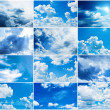 Stock Photo: Blue sky collage